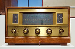 A Fisher 500 AM/FM hi-fi receiver from 1959.