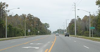 Five Points, Florida - U.S. Route 441 in Five Points.