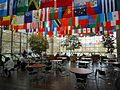 Flags of students home countries at the University of Rochester.jpg
