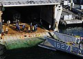 Flickr - Official U.S. Navy Imagery - A landing craft utility approaches the well deck of the amphibious transport dock ship USS Denver (LPD 9)..jpg