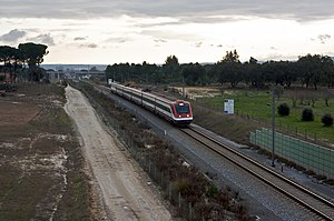 Rail transport in Portugal - Alfa Pendular train, on the Southern Line