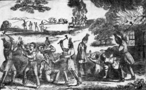 Second Seminole War - White settlers massacred by the Seminoles. From an 1836 book.