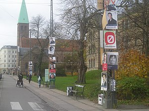 Danish general election, 2007 - Election posters in Copenhagen.