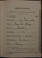 Fong Ah Chong Auckland Chinese poll tax certificate butts Certificate issued at Auckland.jpg