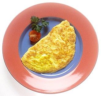 Omelette - Plain omelette with garnish