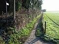 Footpath alongside the railway, Adisham - geograph.org.uk - 1098541.jpg