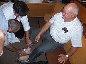 Separate Baptists in Christ - The Friday Night Communion and Foot Washing Service at the Nolynn Association of Separate Baptist in Christ. September 18, 2009