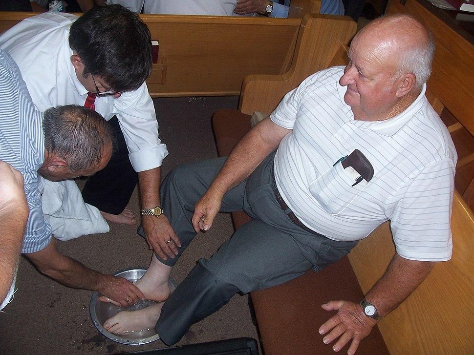 Footwashing of Bro. Noah