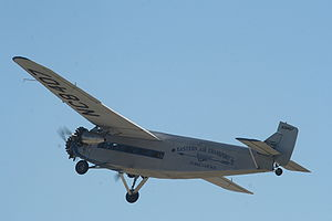 Ford Trimotor in flight.JPG