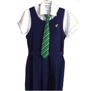 Raffles Girls' School (Secondary) -  Semi-formal RGS uniform with school tie