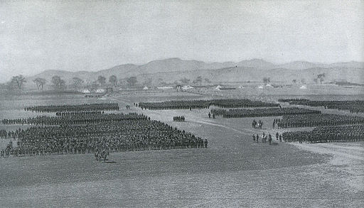 Formation of a division of the Japanese 1st. Army after the Battle of Mukden