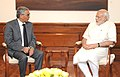 Former Prime Minister of Nepal Sher Bahadur Deuba calls on Prime Minister Narendra Modi.jpg