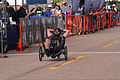 Former U.S. Marine Corps Capt. Richard Rush crosses the finish line during the cycling competition of the 2013 Warrior Games in Colorado Springs, Color., May 13, 2013 130513-M-AG000-112.jpg