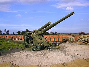 10th Anti-Aircraft Division (United Kingdom) - 3.7-inch HAA gun preserved at Fort Paull in the Hull GDA (Photo: Andy Beecroft).