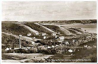 Fort San, Saskatchewan - Fort San looking towards Fort Qu'Appelle, 1920s