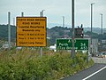 Forth road bridge road works sign - geograph.org.uk - 945596.jpg