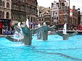 Fountains at the base of Centrepoint Tower, New Oxford Street, London WC2 - geograph.org.uk - 398522.jpg