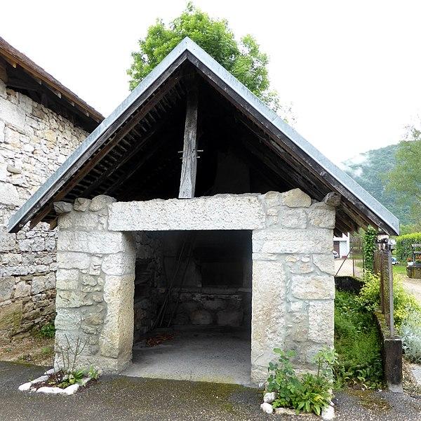 "Common bakehouse in ""Les Marmots"" hamlet in La Balme, Savoie, Rhône-Alpes, France."