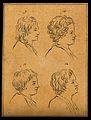 Four heads of boys. Drawing, c. 1793. Wellcome V0009205ER.jpg