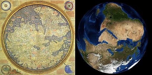 Fra Mauro World Map Satellite Comparison