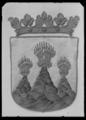 Fragment av begravningsbanér, Västmanland, fäst vid Karl X Gustavs begravningståg 1660 - Livrustkammaren - 60265.tif