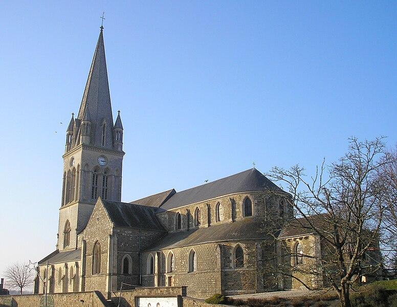 Marigny (Normandie, France). L'église.