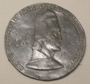 John II, Duke of Lorraine - Jean d'Anjou, medal by Francesco Laurana