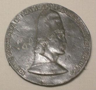 John II, Duke of Lorraine - Jean d'Anjou, medal by Francesco Laurana