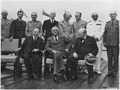 Franklin D. Roosevelt, Churhill, M. King, and several Military Personel in Quebec - NARA - 196975.tif