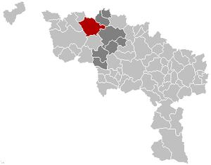Frasnes-lez-Anvaing - Image: Frasnes lez Anvaing Hainaut Belgium Map