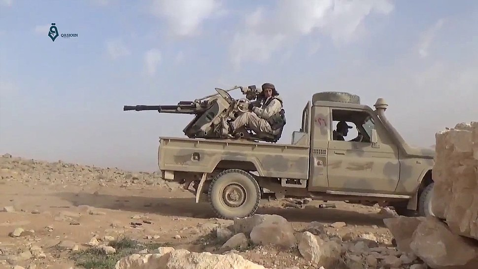 Free Syrian Army technical in the eastern Qalamoun Mountains