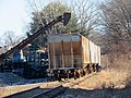 Freight cars at Willimantic Waste Paper Company, December 2018.JPG