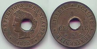 Cochinchina piastre - First coin of French Cochinchina (1878)