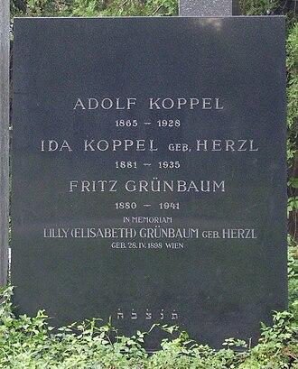 Fritz Grünbaum - Grave in Vienna
