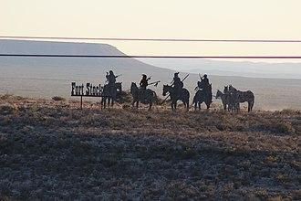Comanche Springs (Texas) - Image: Ft Stockton Sculpture on I 10 panoramio
