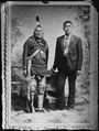 Full length portrait of Indian and white man - NARA - 523715.tif