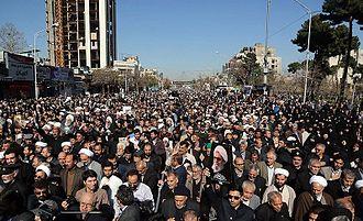 Abbas Vaez-Tabasi - Funeral of Vaez Tabasi in Mashhad.