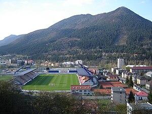 Štadión pod Čebraťom - Image: Futball stadium Ružomberok