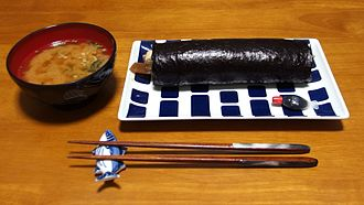 History of sushi - Called Futo-maki(太巻き) or Eho-maki(恵方巻き)