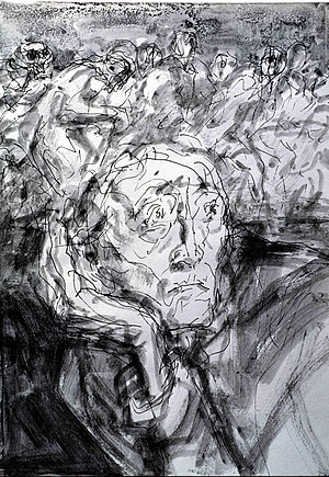 "Gunter Böhmer: ""Nightmare"", Indian ink drawing..."