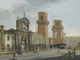 Giuseppe Bernardino Bison - Image: GIUSEPPE BERNARDINO BISON VIEW OF THE ARSENALE, VENICE