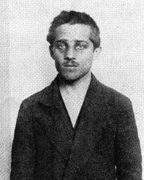 Gavrilo Princip integrante da organização Mão Negra e responsável pelo assassinato de Sarajevo, crime que motivou o início da I Guerra Mundial.