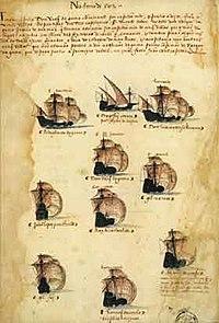 Gama squadron of 1502 Armada (Livro das Armadas)
