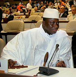 El presidente Yahya Jammeh.