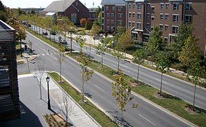 Arkansas Highway 112 - Garland Avenue runs through the north end of the University of Arkansas campus.