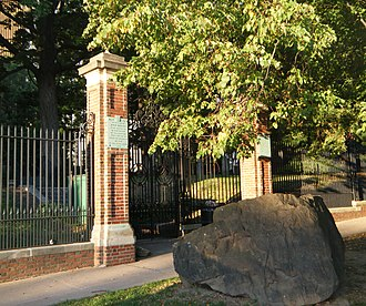 First Church of Christ and the Ancient Burying Ground - Image: Gateway to Ancient Burial Ground Hartford CT