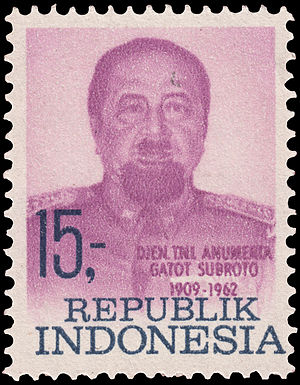 Gatot Soebroto - Soebroto on a 1969 stamp