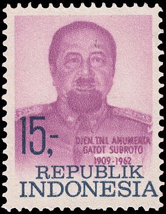 Gatot Soebroto - Soebroto on a 1969 stamp