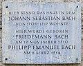Gedenktafel Markt 18 (Weimar) Johann Sebastian Bach.jpg