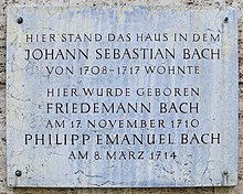 photo : plaque commémorative à Weimar